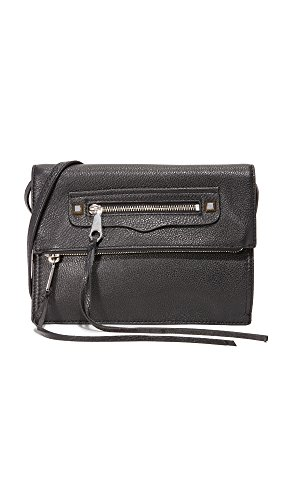 Rebecca Minkoff Women's Small Regan Cross Body Clutch, Black, One Size