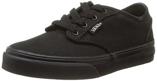 New Vans Shoes Atwood Canvas All Black Sneakers Size 10.5 Kids 0ki5186