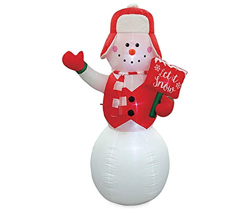 LED Inflatable Snowman with