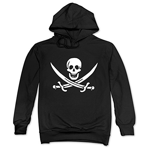 Mens East Carolina Pirates With Swords Hoodies Black 100% Cotton