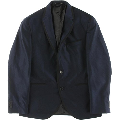 New Kenneth Cole Slim Fit Navy Textured Two Button new Men's Sport Coat hot sale