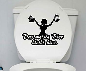 Wc Deckel Aufkleber Bier Bleibt Toiletten Spruch Lustig Badezimmer
