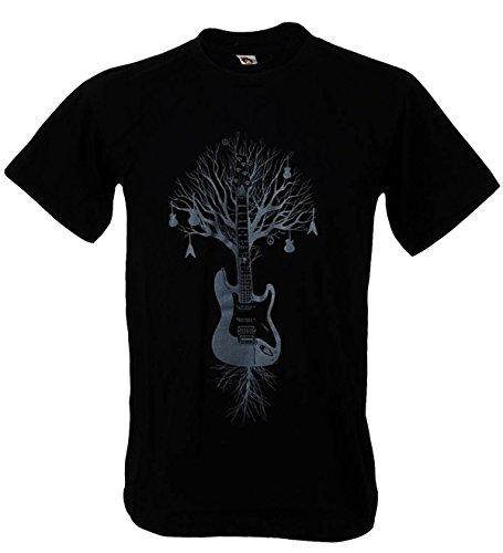 Tshirtmystyle Men's Guitar Tree Graphic Music Art Banksy Man T-Shirt