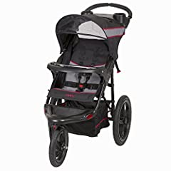 The Range Jogging Stroller features hi-impact lightweight composite all-terrain wheels. A locking swivel wheel that allows you to lock the front wheel in place when jogging and unlock it for easy low speed strolling.