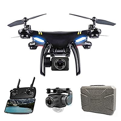 Global Drone GW168 GPS Drone with Camera Live Video HD 1080P Wide-Angle Servo Gimbal, FPV Quadcopter with Adjustable Camera, Follow Me, Intelligent Auto Return to Home (RTH) RC Wi-Fi Drones from Globalwin Toys
