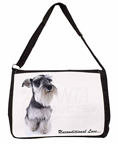 Schnauzer Dog-Love Large 16 Black School Laptop Shoulder Bag
