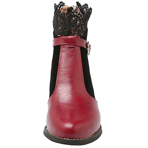 AIYOUMEI Women's Classic Boot Red QGYixj7DP