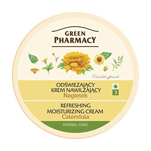 Green Pharmacy Moisturizing Calendula Face-Cream for Dry & Dehydrated Skin - with Shea Butter, Macadamia Oil & D-Panthenol - Paraben- Free - 150ml