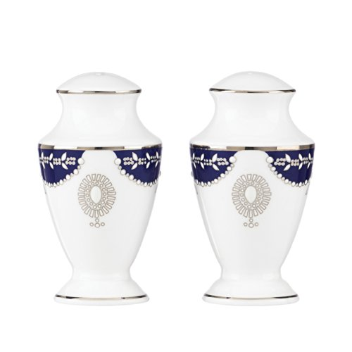 Lenox Marchesa Empire Salt and Pepper, Pearl Indigo