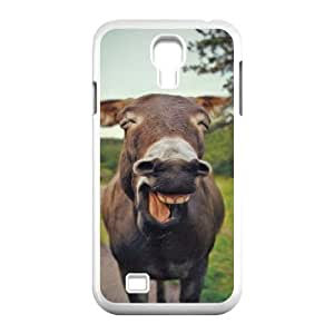Funny Smiling Donkey Samsung Galaxy S4 Case for Guys, Case for Samsung Galaxy S4 I9500 [White]