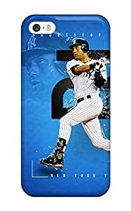 Tpu Case Cover Compatible For Iphone 5/5s/ Hot Case/ Derek Jeter Baseball (3D PC Soft Case)