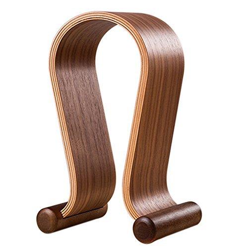 SAMDI Wooden Walnut Wood Omega Headphone Gaming Headset Display Stand Holder - 800 Walnut