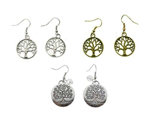 Womens The Tree of Life Pendant Alloy Metal Fashion Earrings
