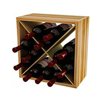 Wine Storage Cube Wine Rack for 12 Bottles  sc 1 st  Amazon.com & Amazon.com: Wine Storage Cube Wine Rack for 12 Bottles: Home u0026 Kitchen
