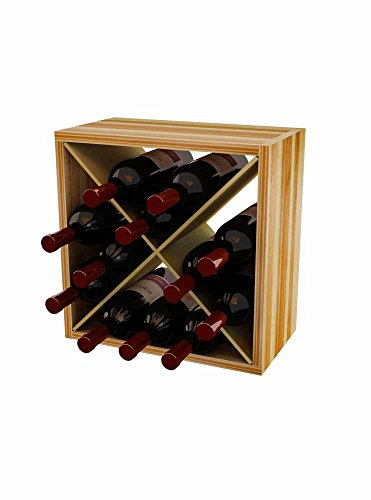 Wine Storage Cube Wine Rack for 12 Bottles