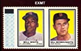#3: 1962 Topps Stamp Panels (Baseball) Card# 215 bill white/bill monbouquette w/tab of the St. Louis Cardinals VGX Condition