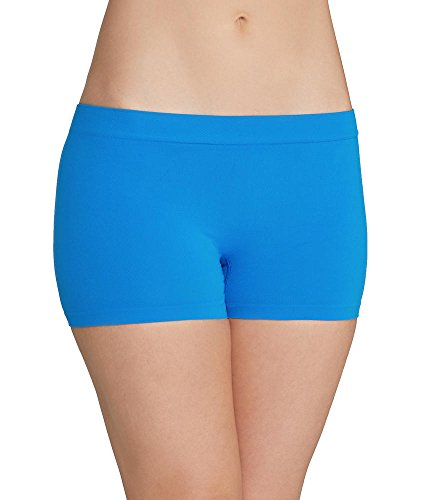 (Maidenform Pure Genius Seamless Boyshort, 8/XL, Blue Jay)