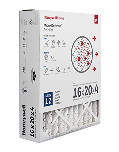 Honeywell Home High Efficiency AC Furnace Air Filter 16 x 20 x 4 MERV 12 (1 pk)