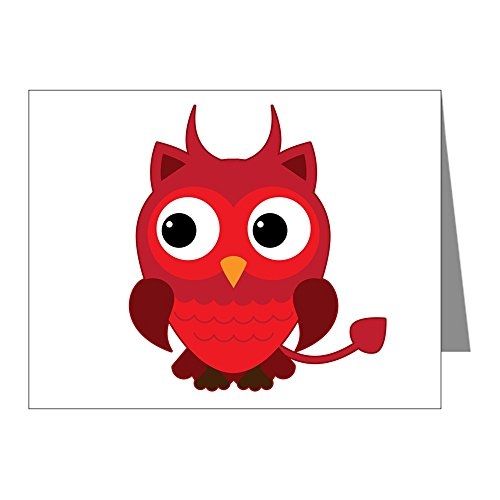 X-Large Greeting Card (10 Pack) Little Spooky Owl Devil -