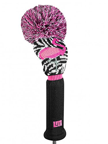 Loudmouth Driver Headcovers Pink/Black (Pink Headcover)