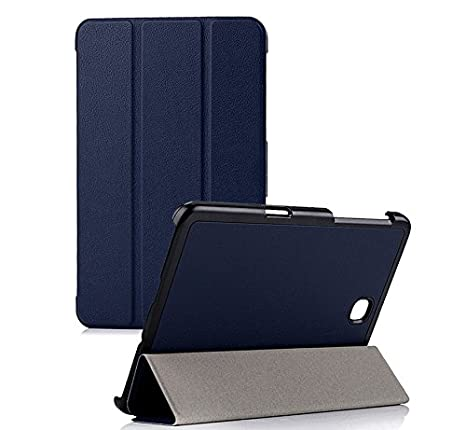 SPL Premium PU Leather Book Stand Cover for Samsung Galaxy Tab S2 Tablet 9.7inch  Dark Blue Cases   Covers
