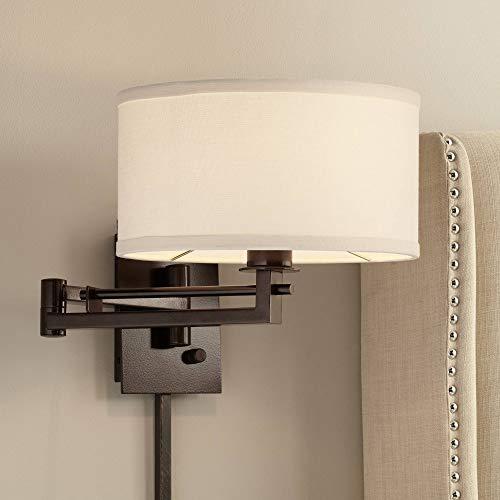 Possini Euro Design Aluno Bronze Swing Arm Wall Lamp - Possini Euro Design (Drum Wall)