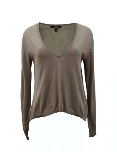 weekend-maxmara-womens-silk-cotton-v-neck-opale-sweater-sz-m-taupe-grey-120242mm