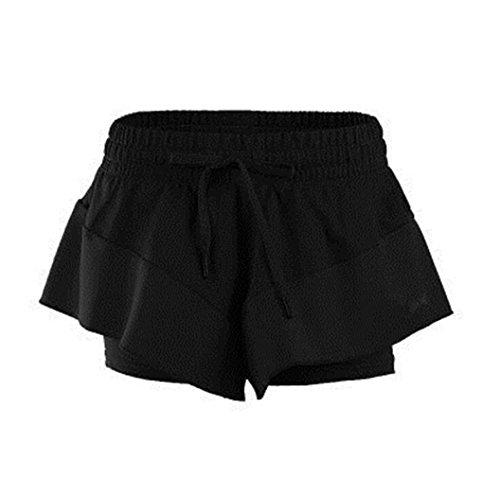 YAXUN - Pantalón corto deportivo - para mujer negro