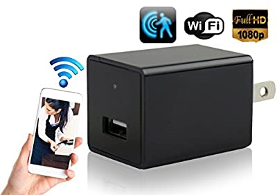 Hidden Security Camera Wall Charger - Cutting-Edge Nanny Camera USB Security Camera Supports 128GB SD Memory Card - Superior Motion Detection, 1080P HD Resolution, 9712 Lens & Wi-Fi Remote Viewing from Fendakang Technology Co., Ltd.
