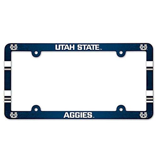 WinCraft Utah State Aggies Plastic License Plate Frame (Utah State License Plate)
