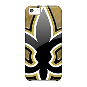 Shock Absorbent Hard Phone Covers For Iphone 5c With Unique Design Lifelike New Orleans Saints Pictures EricHowe