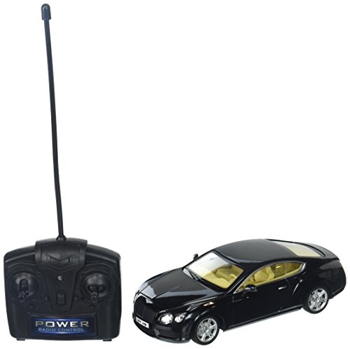 (Braha Full Function Remote Control 1:24 Scale - Black Bentley Continental GT, Black)