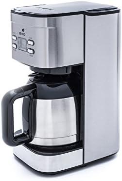 Senya SYBF-CM025 Cafetera isotérmica de acero, 800 W, 1.2 litros ...