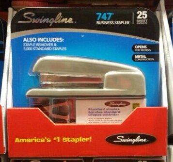 Gray Standard Stapler (SwingLine 747 Business Stapler 25 sheet capacity GRAY GREY ! With Staples & Staple Remover)