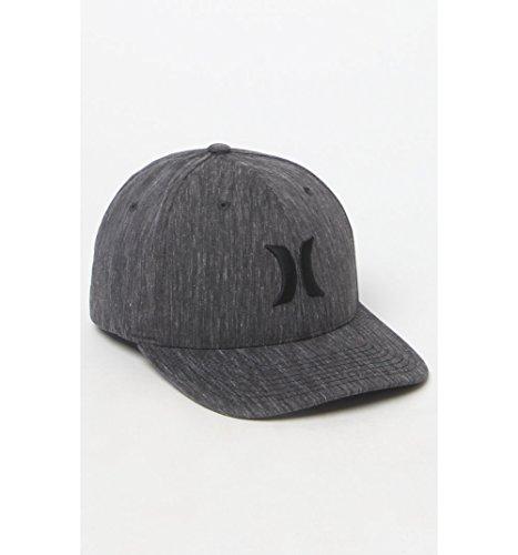 Hurley Mens Black Suits Flexfit Hat (Hurley Hat Embroidered)