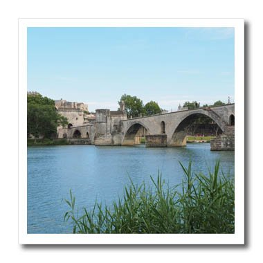 3dRose Cities Of The World - The Pont dAvignon Medieval Bridge In Avignon, France - 10x10 Iron on Heat Transfer for White Material (Avignon Pillow)