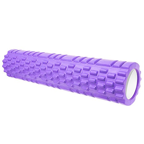 Warmers Knee Evo (VEAIDE 24Inch High-density Round Foam Roller for Back Pain Physical Therapy & Exercise, Muscle Massage, Extra Firm and Durable, Ideal for Balance, Stretching, Flexibility and Rehab Exercises)