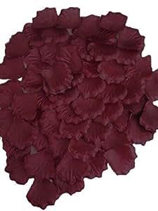 Weeton 200 Top Quality Borgoña seda pétalos de rosa - tabla de la boda del confeti Decoración