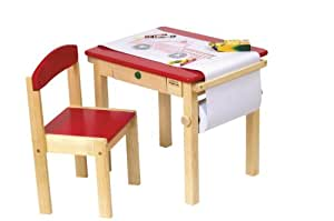 Guidecraft Art Table & Chair Set - Red G98049