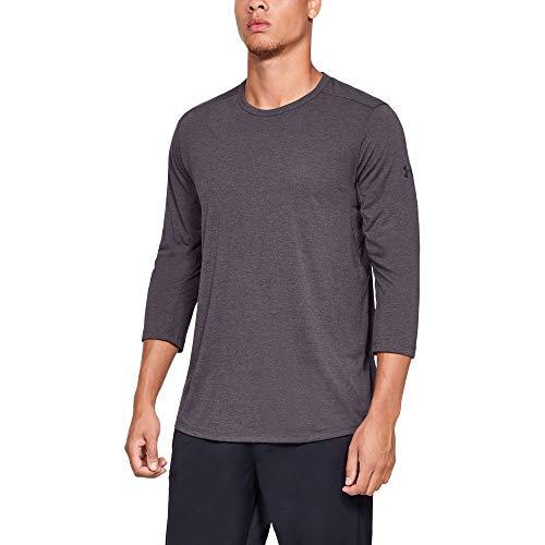 (Under Armour Men's Threadborne 3/4 sleeve, Pixel Purple (509)/Black, XX-Large)