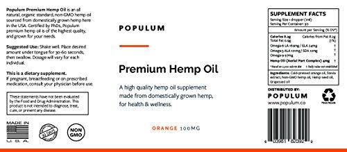 Populum-Premium-Hemp-Oil-Supplement-Grown-and-Made-in-USA-100-Natural-Tasty-Orange-Flavor-30-Servings-1oz-Pure-Hemp-Oil-Hemp-Seed-Oil-Grapeseed-Oil