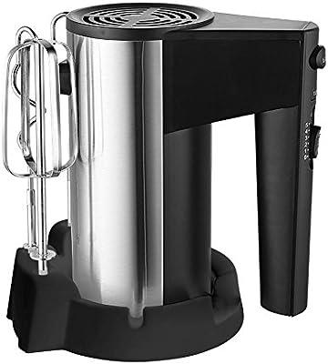 Wjsw Amasadora Robot De Cocina 2 En 1Eléctrico Batidora, Batidor De Globo 5 Ajustes Velocidad con Botón Turbo, Profesional para Mezclar Masa/Huevos/Dulces/Crema Etc, Silver: Amazon.es