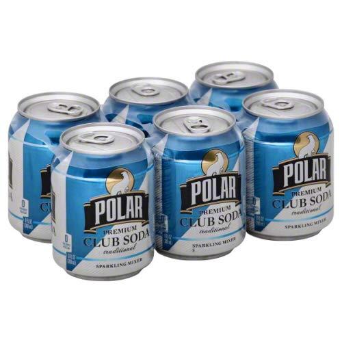 Polar Club Soda 8 oz Cans - 3 Packs of 8