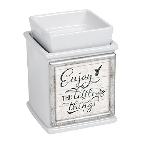 The Little Things Ceramic Slate Grey Interchangeable Photo Frame Candle Wax Oil Warmer ()