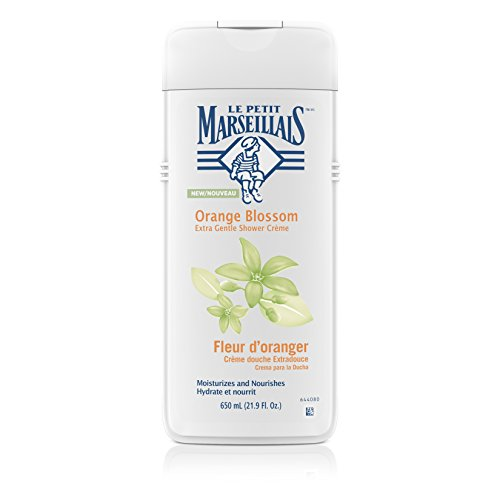 Delight Bath And Shower Gel - Le Petit Marseillais Extra Gentle Shower Crème with Orange Blossom, Moisturizing & Nourishing French Body Wash for pH Neutral for Skin, 21.9 fl. oz