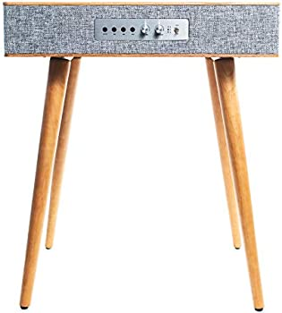 Sierra Modern Home Classic Speaker Table with Built-In Wireless Qi Charging