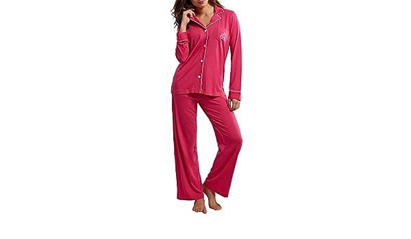 Lauren by Ralph Lauren mujer de punto juego de pijama - Rosado - : Amazon.es: Ropa y accesorios