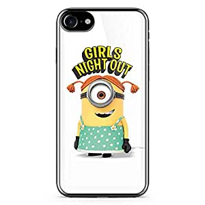 iPhone 7 Transparent Edge Case Miniion Girls Night Out