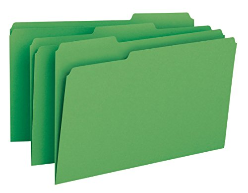 Smead File Folder, 1/3-Cut Tab, Legal Size, Green, 100 per Box (17143)