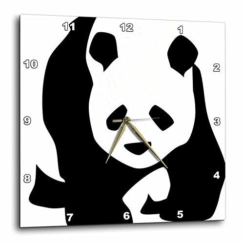 3dRose dpp_51358_1 Panda Bear Animals Cute Art Wall Clock, 10 by 10-Inch